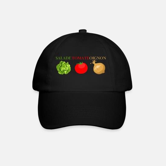 c5cbbc05bf Faim Casquettes et bonnets - salade tomate oignon - Casquette baseball  noir/noir
