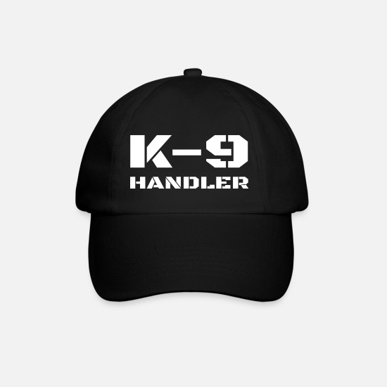 Dog Caps & Hats - K-9 Handler Police Dog Trainer K9 Unit Officer - Baseball Cap black/black