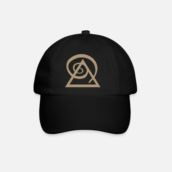 Yogi Caps & Hats - Power symbol gold pyramid yoga design gift idea - Baseball Cap black/black