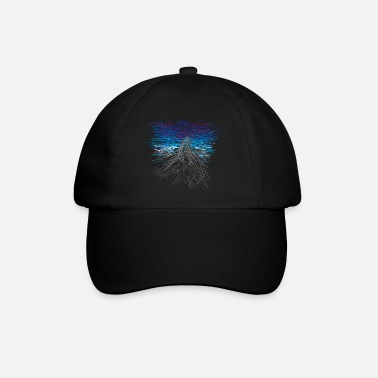 Mountain Mountain - abstract - Baseball Cap