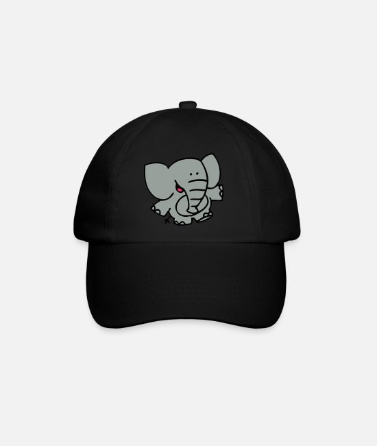 Graphics Caps & Hats - Little Elephant by Cheerful Madness!! - Baseball Cap black/black