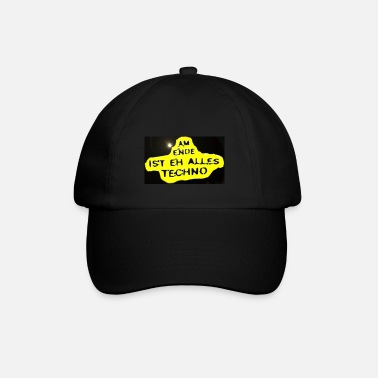 Jumpstyle Am Ende ist eh alles Techno - yellow black - Baseball Cap