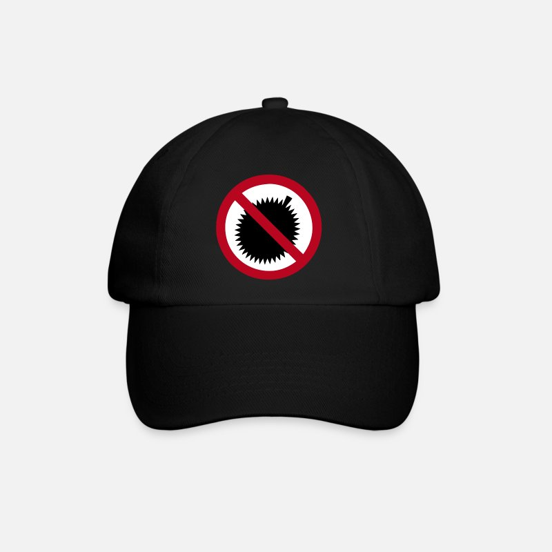 Fruits Caps & Hats - NO Durian Fruit Sign - Baseball Cap black/black