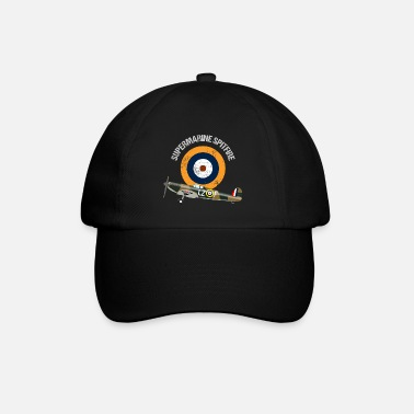 Retro Design Supermarine Spitfire Warbird Airplane - Baseball Cap