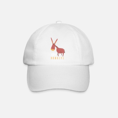 I just freaking love donkeys Lustiges Geschenk - Baseball Cap