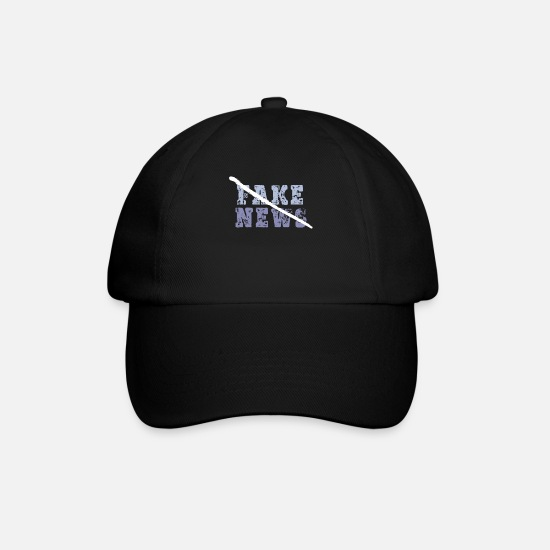 Blogger Caps & Hats - Fake News Media Wrong Report - Baseball Cap black/black