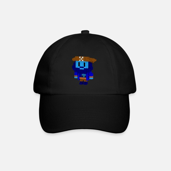 Pixelart Caps & Hats - Ghost Pirate - Baseball Cap black/black