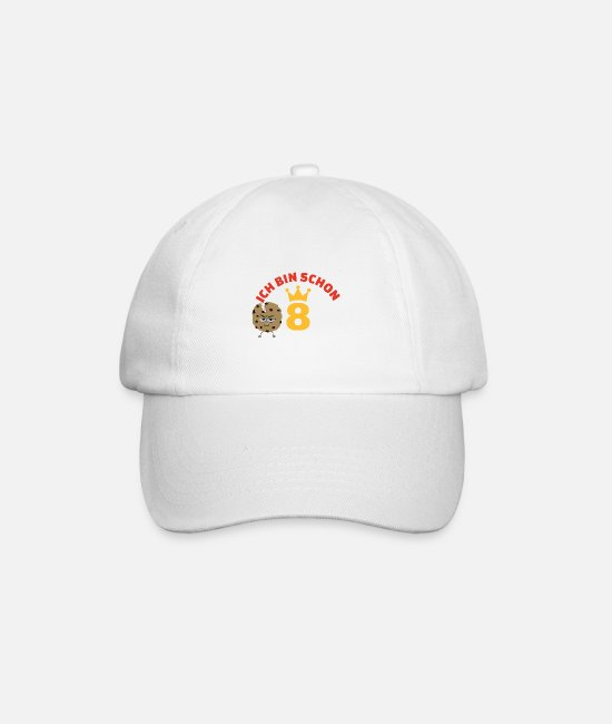 Cookie Caps & Hats - Cookie angry biscuit love cookies 8 years child - Baseball Cap white/white