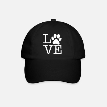 Gul Love Pets Paw Cute Typography - Baseball keps