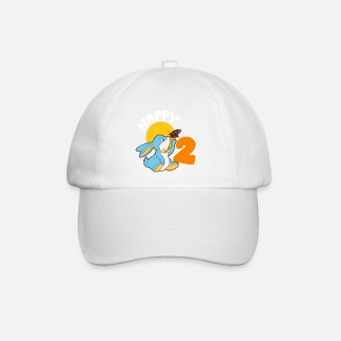 Boy 2 year old birthday boy girl one rabbit - Baseball Cap