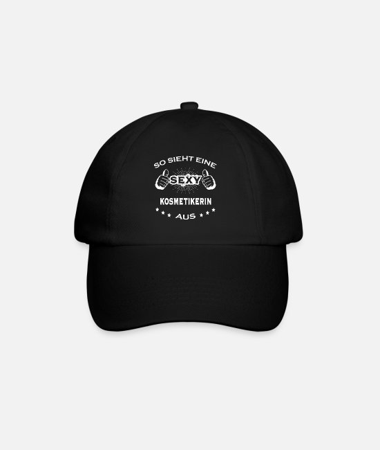 Office Caps & Hats - Sexy birthday sportjob COSMETIC - Baseball Cap black/black