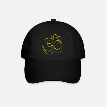 Tibetan Cool Buddhism Om sign yellow see through - Baseball Cap