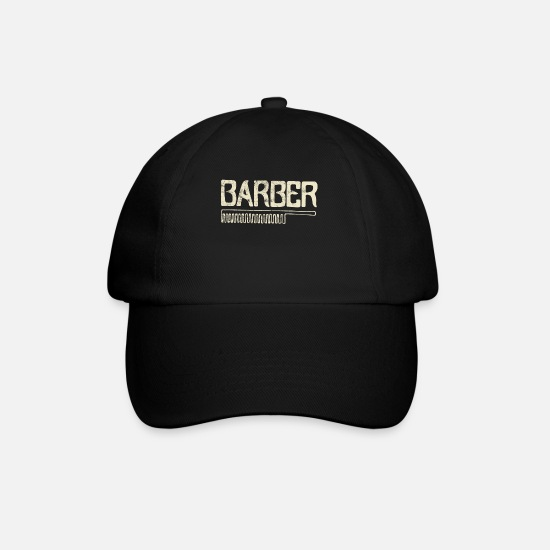 Haired Caps & Hats - Barber barber barber - Baseball Cap black/black