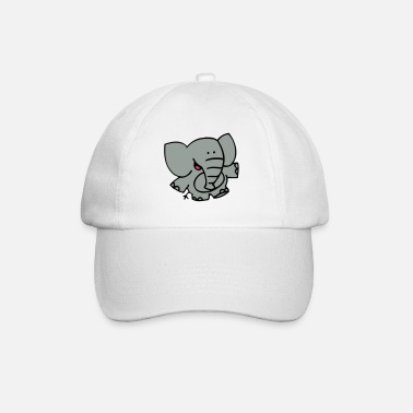 Little Elephant by Cheerful Madness!! - Baseball Cap