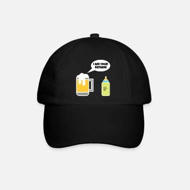 Sober I am your dad beer baby vial gift - Baseball Cap