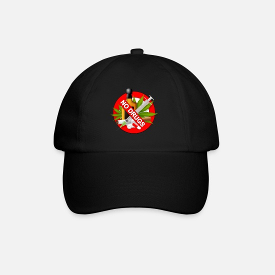 Drugs Caps & Hats - No drugs - Baseball Cap black/black