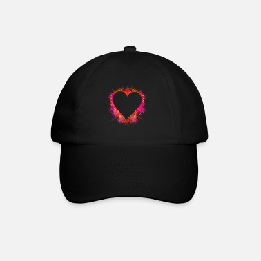 Explosion color intensive explosion - heart with color powder - Baseball Cap
