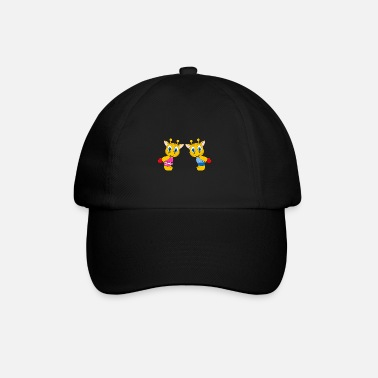 Heart Funny giraffes - heart - love - love - fun - Baseball Cap
