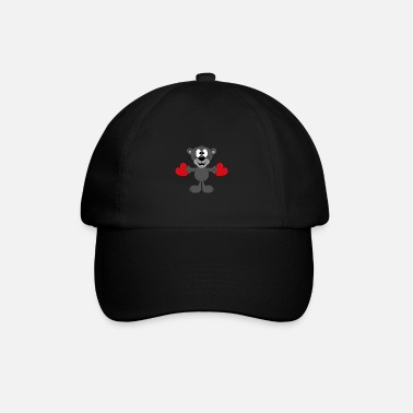 Fun Funny panther - hearts - love - love - animal - Baseball Cap