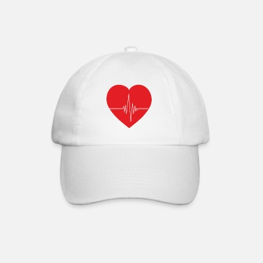 Pulse Heart with heart line - Baseball Cap