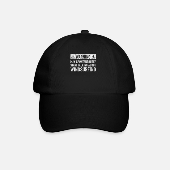 Windsurfing Caps & Hats - Windsurfing Gift: Order Here - Baseball Cap black/black