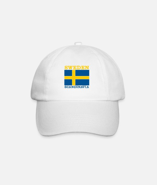 Sweden Caps & Hats - Sweden Scandinavia - Sweden - Baseball Cap white/white