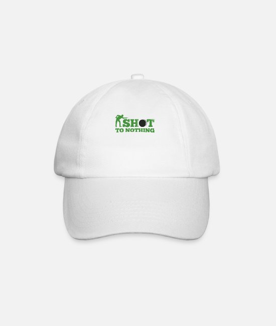 Cue Caps & Hats - Snooker shot to nothing - Baseball Cap white/white