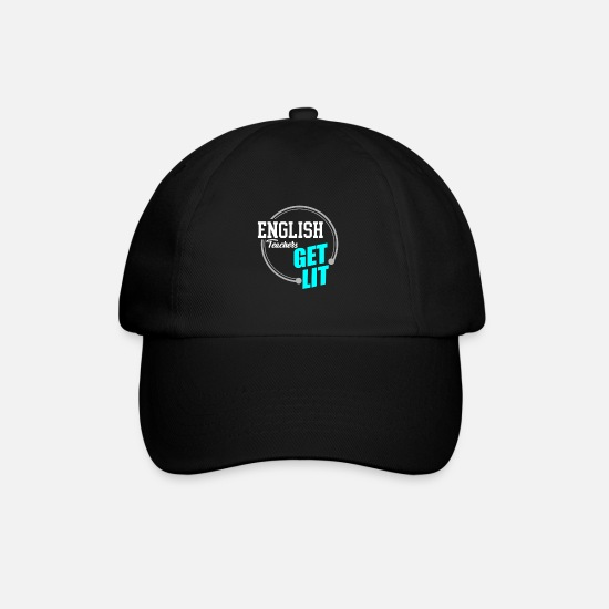 Occupation Caps & Hats - English Teachers Get Lit | School Pedagogue - Baseball Cap black/black