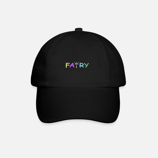 Wing Caps & Hats - Colorful Fairy - Colorful fairy - Baseball Cap black/black