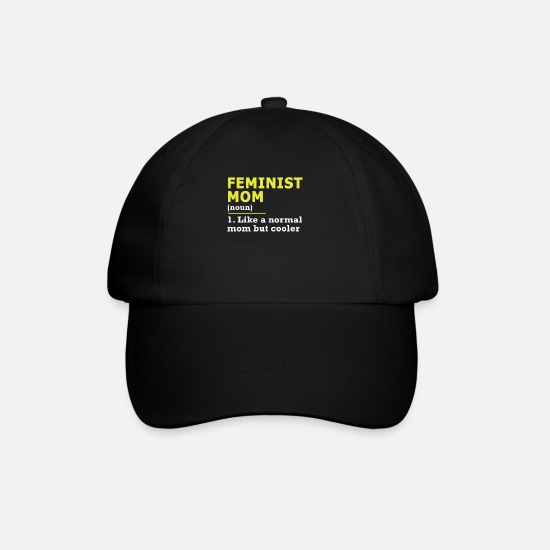 Mother Caps & Hats - Feminist mom mom mom gift - Baseball Cap black/black