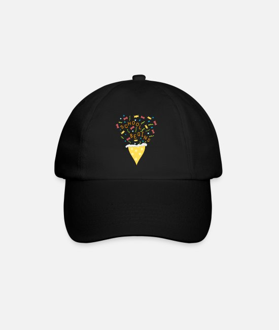 School Caps & Hats - School beginner, pre school, school, school cone - Baseball Cap black/black