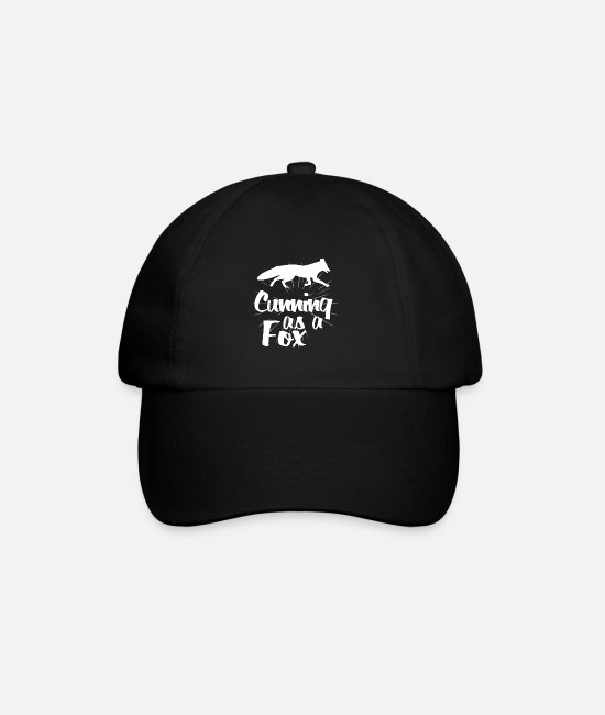 Nature Caps & Hats - Fox wild animal in the forest - Baseball Cap black/black