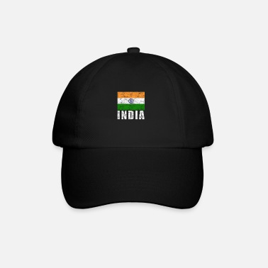 India Annata bandiera India - Cappello con visiera