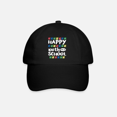 Granddaughter 100th Day Of School Happy Funny Child Teacher Stud - Baseball Cap