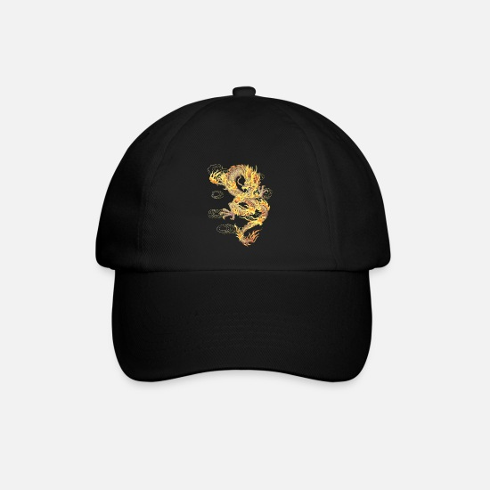 Fantasy Caps & Hats - Chinese Dragon Symbol of Power and Strength - Baseball Cap black/black