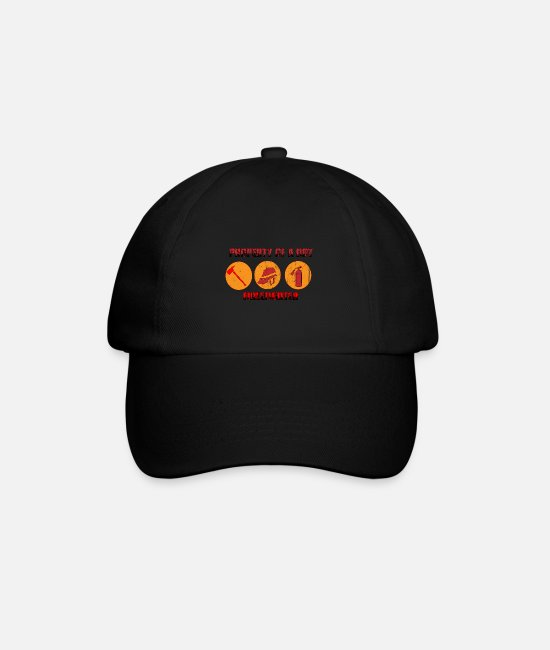 Heat Caps & Hats - Firefighter hero Firefighter - Baseball Cap black/black