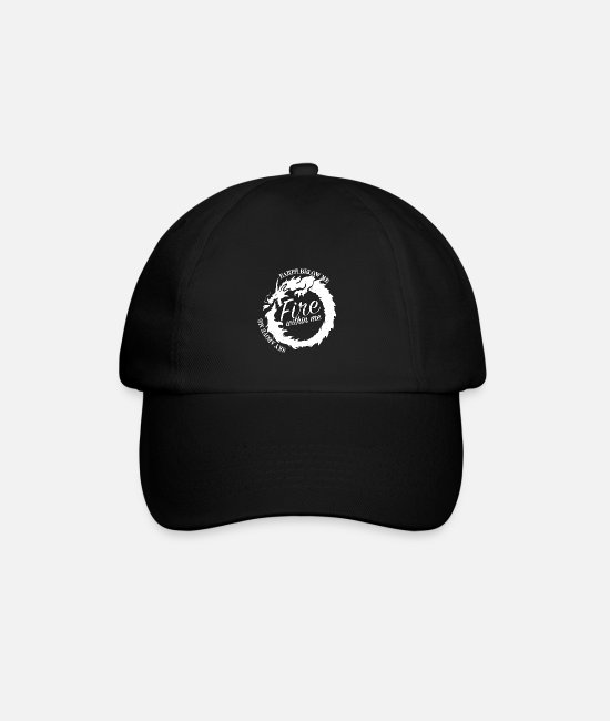 Wild Caps & Hats - Dragon mythology mythical creature lizard gift - Baseball Cap black/black