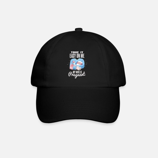 Idea Caps & Hats - Funny pregnancy shirt for the man - Baseball Cap black/black