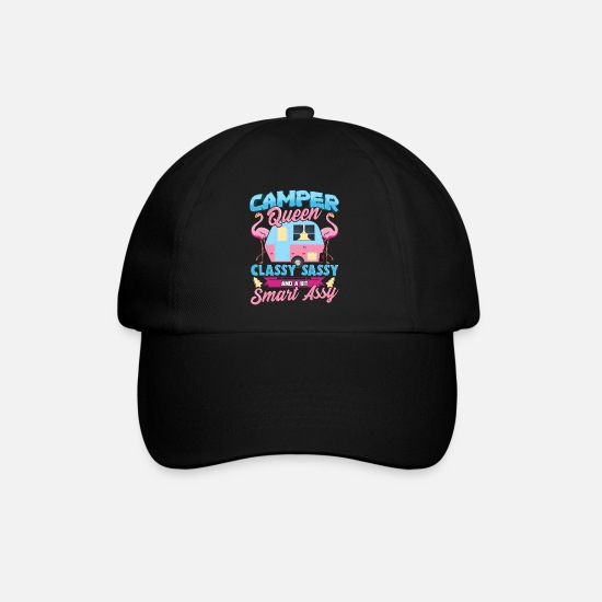 Travel Caps & Hats - Camping Queen of the fun motorhome - Baseball Cap black/black