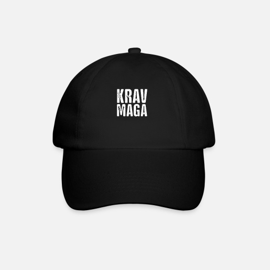 Martial Arts Caps & Hats - Defense Martial Arts Krav Maga Melee Fighter - Baseball Cap black/black