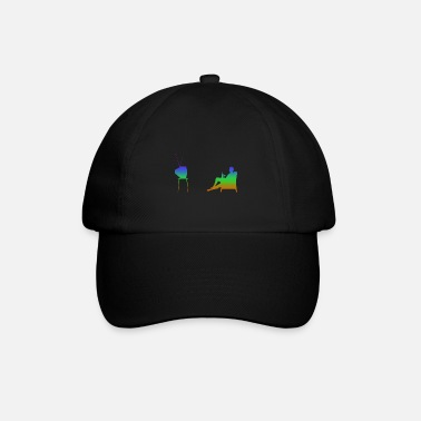 Television Television and television Rainbow Silhuette - Baseball Cap