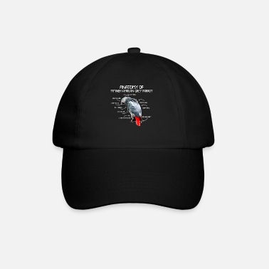 Bird anatomy of timneh african gray parrot gift - Baseball Cap