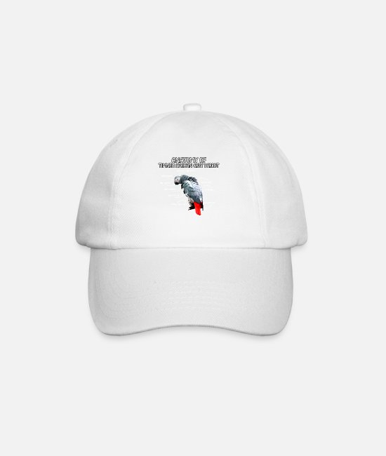 Bird Caps & Hats - anatomy of timneh african gray parrot gift - Baseball Cap white/white