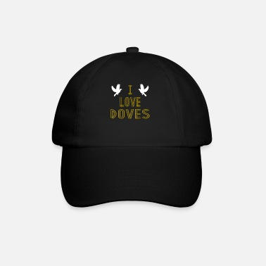 Golubica I Love Doves Hipster Shirt - Baseball Cap