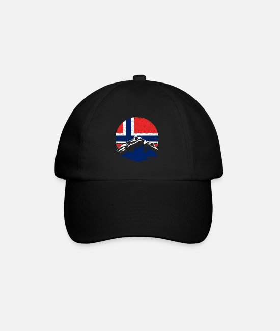 Oslo Caps & Hats - Norway Scandinavia gift - Baseball Cap black/black