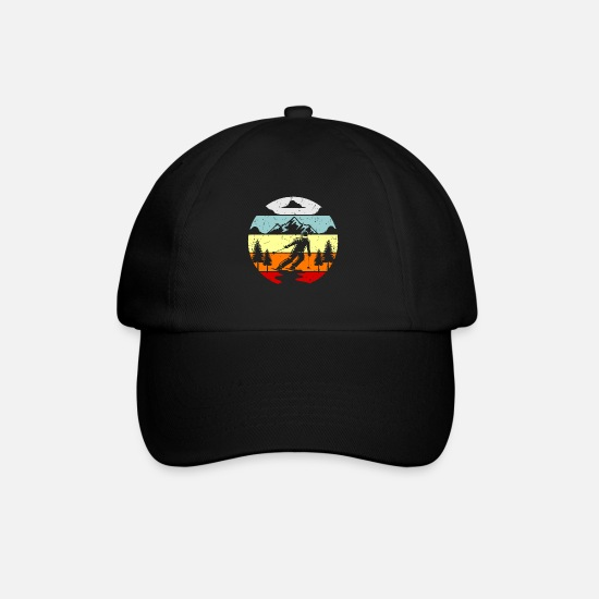 Gift Idea Caps & Hats - Ski winter sport ski jumper gift idea - Baseball Cap black/black