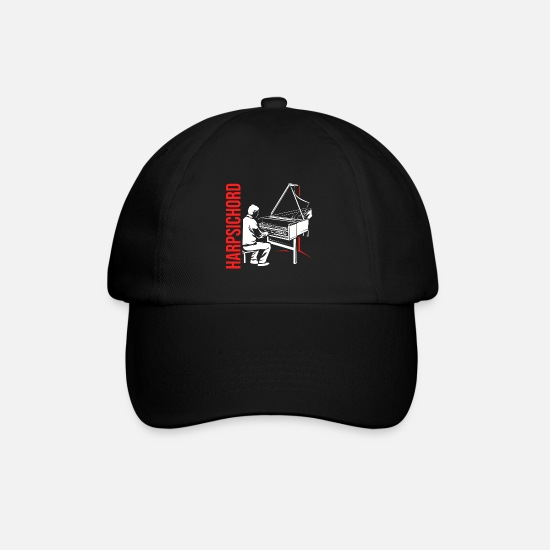 Idea Caps & Hats - Harpsichord harpsichord - Baseball Cap black/black