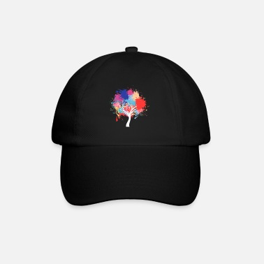 Planet Environmental protection tree paint splash - Baseball Cap