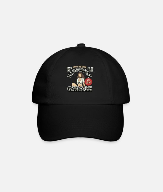 Ass Caps & Hats - Pinup vintage rockabilly - Baseball Cap black/black