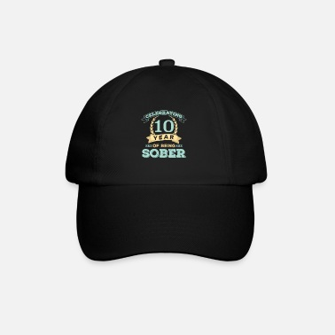 Production Year I have been sober for 10 year print celebrating - Baseball Cap
